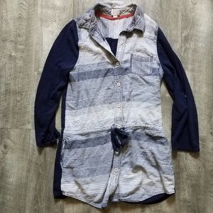 Anthropologie Postmark Shirt Dress Medium Linen